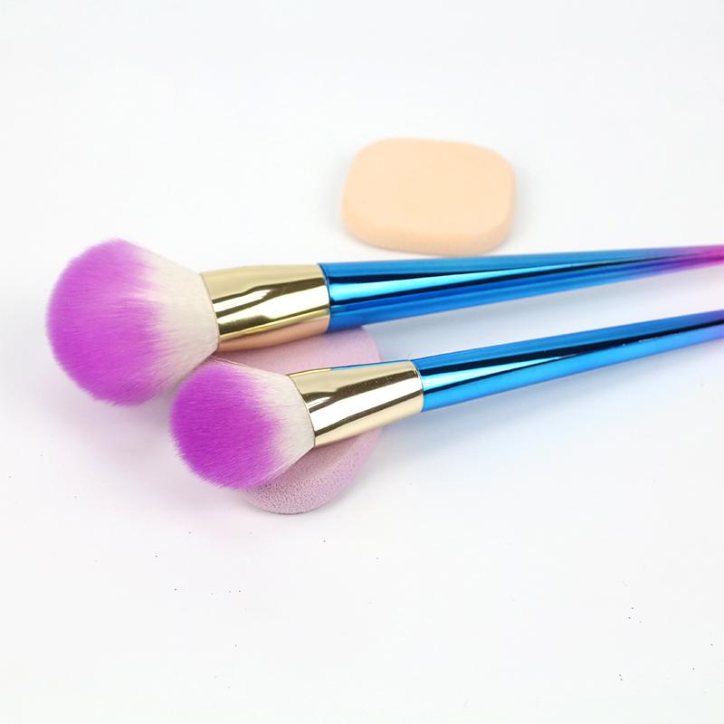 Rainbow Makeup Brushes