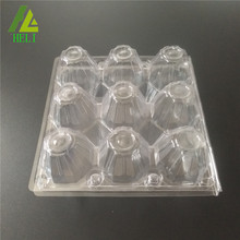 9 holes square medium plastic egg trays