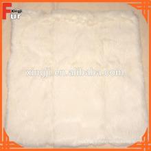 Coussin en fourrure, véritable fourrure de lapin, pour le textile de maison