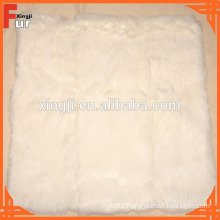 Fur Cushion, real rabbit fur, for home textile
