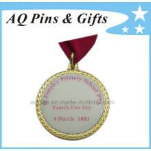 Gold Metal Medal with Printed Logo & Epoxy