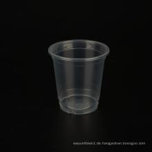 8oz/240ml Milchtee Plastikbecher mit Deckel bedruckt