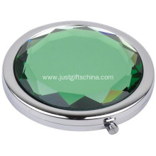 Promotional Crystal Round Shape Pocket Mirror