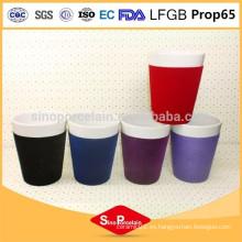 FDA Porcelana 300ml Porcelana Flock taza de café de cerámica taza