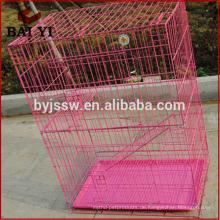 Fabrikpreis Großhandelsaußen- und Innenfaltender großer Metallhaustier-Katze-Käfig