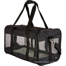 Ventilated Dog Sleeping Bag Soft-Sided Mesh Pet Travel Carrier Expandable Pet Bag for Dog