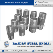 High Pressure Tolerance, Sturdy, User-friendly to Install Stainless Steel Nipple