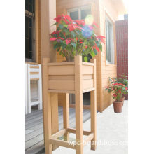 Wood Plastic Composite Flower Pots Outdoor / Engineered Flooring