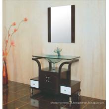 Armário de banheiro de bacia de vidro (B-609)