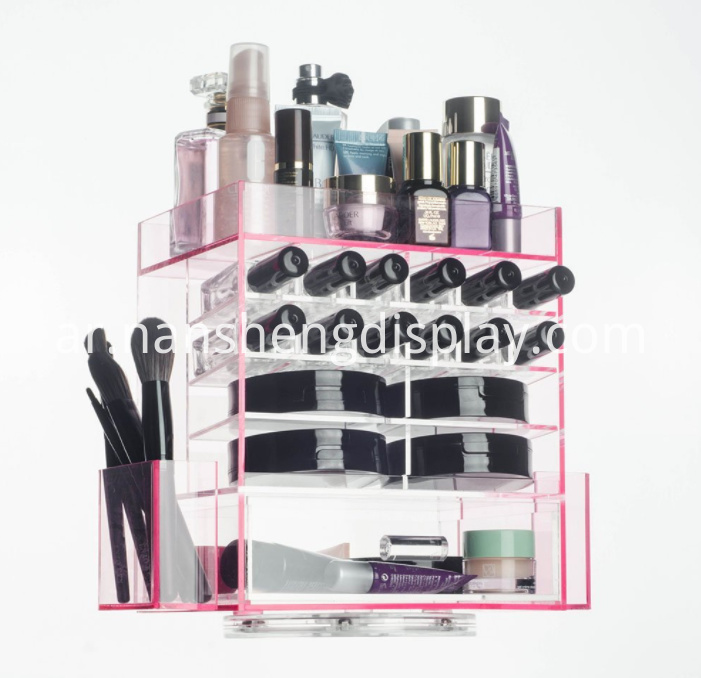 360 Degrees Spinning Acrylic Makeup Organizer