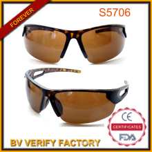 Demi Tort Half-Rim Outdoor Sports Sunglasses with Polarized Lenes