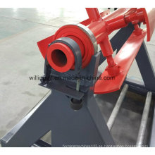 Bobina de acero de 3 toneladas simple Metal Decoiler