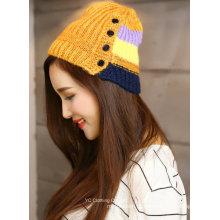 Chapéu de crochê tricotado inverno multi cor barato