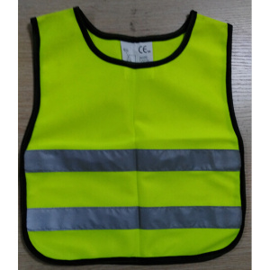 Children's reflective safety vest with knit material