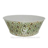 homeware garden middle round metal planter