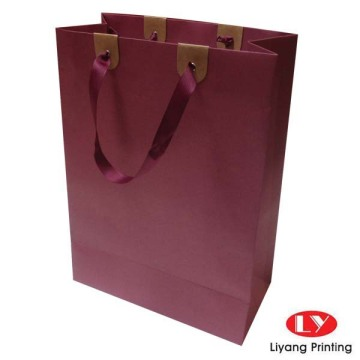 Printed Red Colour Craft Papeer bag with ribbon