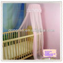 Cama de mosquito para bebé tela de jacquard de dosel