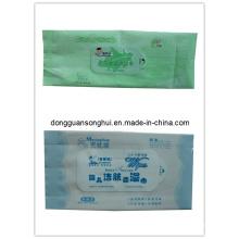 Bolsa de tejido húmedo / Embalaje de tejido / Bolsa de tejido de auto-etiqueta