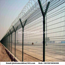 Y Type Svetsad Wire Mesh Fence / Airport Fence