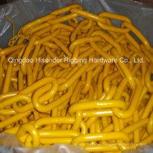 Industrial que usa la cadena G80, pintada de amarillo