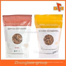 Embalagem de alimentos bolsa zip lock com design personalizado impressão