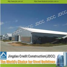 Bâtiment léger de structure en acier galvanisé pour la ferme de poulet