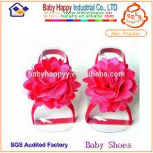Sandalias pakistaní de alta calidad rojo para el bebé