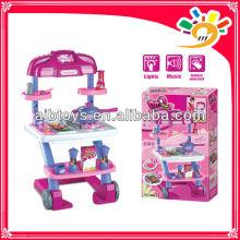 Plastik Spielzeug Küche Spiel Set, Küche Kochen Set Spielzeug, Kinder spielen vorgeben Küche mit Musik und Licht gesetzt