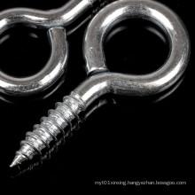 Zinc Plated Carbon Steel Self Tapping Eye Hook Screw