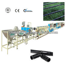The round labyrinth drip irrigation pipe production line