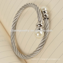 Produits les plus populaires Fashion Bead Stainless Steel Bracelet Jewelry GSL003
