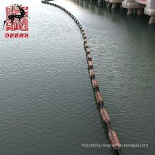 Eco friendly permanent solid float rubber oil boom for shoreline