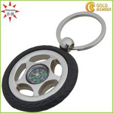 Heiße Verkaufs-Metallkompaß-Schlüsselringe