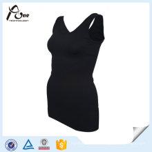 Tecido de Tabby Quick Dry Garota Stringer Singlet Gym Vestuário