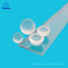 Lente de bola de vidrio óptico para endoscopio y microscopio