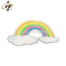 Shuanghua promotionnel personnalisé métal rainbow forme épingles en métal