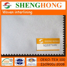 Soft thin woven fabrics interlining