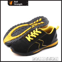 Geniune Leather Safety Shoes with Steel Toe and Rubber Sole (SN5168)