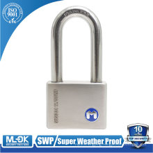 MOK@12/50WF Made in China hot sale outdoor long shackle stainless steel padlock