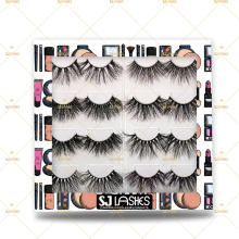 25mm 100% Cruelty free 3D Big 28mm Dramatic Dolly Eye Mink Fur Eyelashes With Own Logo Design Printing Logo Packaging Boxes