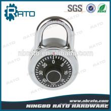 Keyless 1-3 / 8 pulgadas de ancho surtido colores combinación de candado de dial con cubierta de aleación de aluminio