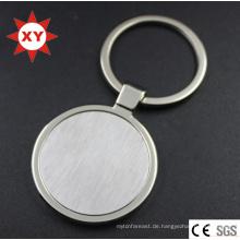 Neuer Entwurfs-Zink-Legierungs-runder unbelegter Keychain