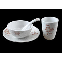 (BC-MK1012) Fashinable Design Reusable Melamine 4PCS Dinner Set