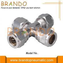 Union Cross Brass Pneumatic Compression Ferrule Fittings