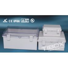 Caja impermeable a prueba de agua de plástico de la cerradura + de la bisagra