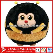 Großhandel süße Tier-Set gefüllte Biene Plüsch Ball Spielzeug