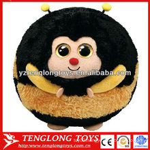 Wholesale cute animal set stuffed bee plush ball toy