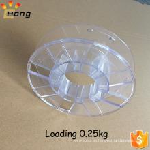 Bobina plástica vacía de la bobina para el filamento de la impresora 3D