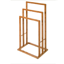 Good Quality for Bamboo Towel Rack Eco-friendly bamboo bathroom shower shelf tower rack export to Yemen Factory