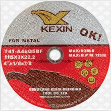 Disco de corte de abrasivos para metal 115 * 3 * 22.2